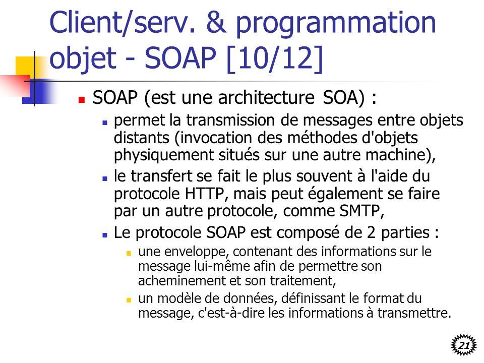 Client/serv. & programmation objet - SOAP [10/12]
